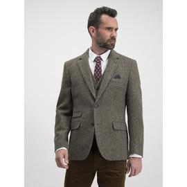 Harris Tweed Brown Tailored Fit Jacket