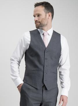 Charcoal Prince Of Wales Check Slim Fit Waistcoat