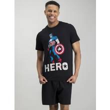 Online Exclusive Captain America Black Short Pyjamas