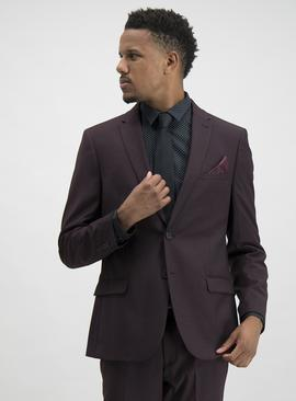 Burgundy Slim Fit Suit Jacket