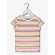Multicoloured Neon Stripe Rib T-Shirt (3 - 14 Years)