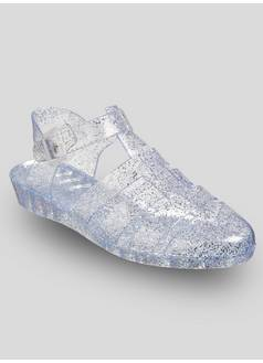 301b193335a8 Tu. Online Exclusive Silver Glitter Jelly Shoes