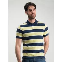 Navy & Yellow Stripe Polo Shirt