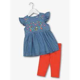 5f3f9c78e968b Red & Blue Top & Leggings 2 Piece Set