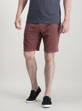 Oxblood Washed Shorts