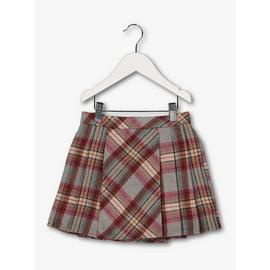 Multicoloured Pleated Check Skirt