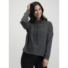 Charcoal Soft Touch Cowl Neck Jumper
