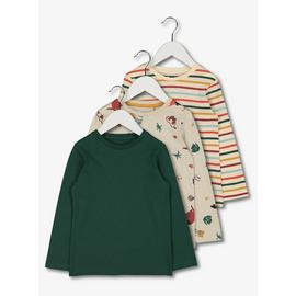 Multicoloured Long Sleeve Tops 3 Pack