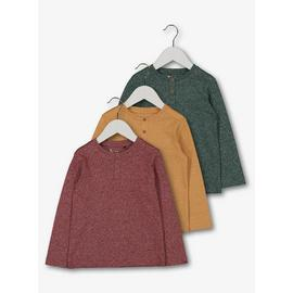 Multicoloured Grandad Top 3 Pack
