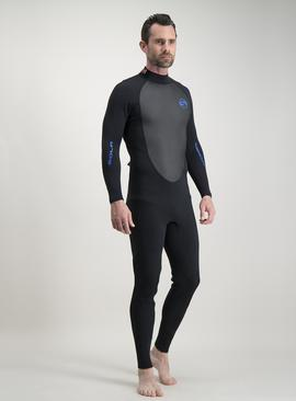 Sola Charcoal Grey & Red Fusion 3/2 Long Leg Wetsuit