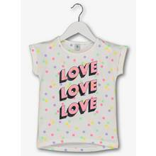 White & Neon Spot Love Top (3-14 years)