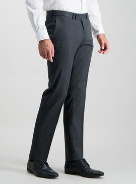 Charcoal Grey Tailored Fit Active Waistband Trousers