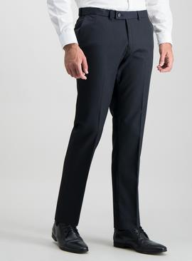 Navy Tailored Fit Active Waistband Suit Trousers