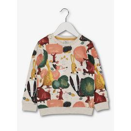Multicoloured Woodland Animal Print Sweatshirt