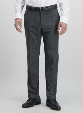 Grey Prince of Wales Check Tailored Fit Trousers