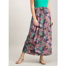 Multicoloured Paisley Print Maxi Skirt