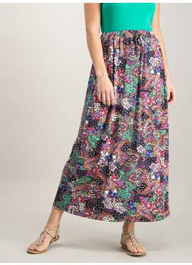 11459b1e6 Multicoloured Paisley Print Maxi Skirt - 18