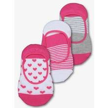 Pink Heart & Striped Footsies 3 Pack