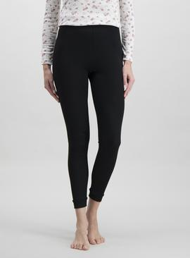 Black Pointelle 'Extra Warm' Thermal Leggings