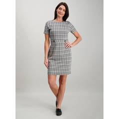 12e0b5597c4 Black Abstract Animal Print Ponte Shift Dress. £22.00. Add to wishlist.  Choose options. Monochrome Check Tab Waist Dress