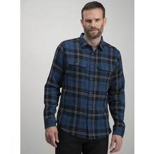 Blue Check Regular Fit Overshirt