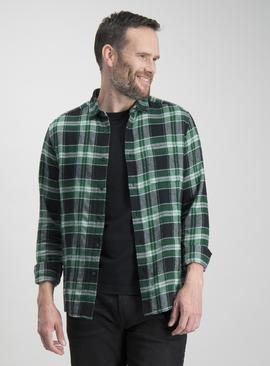 Green Check Regular Fit Shirt