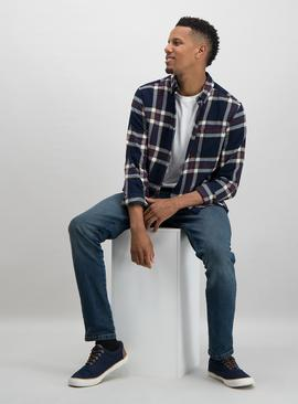 Multicoloured Brushed Check Regular Fit Shirt