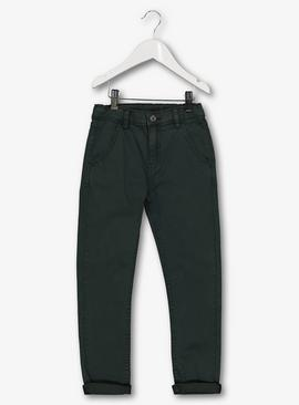 Green Chinos With Stretch