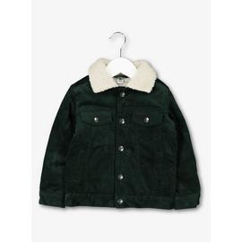 Dark Green Corduroy Trucker Jacket