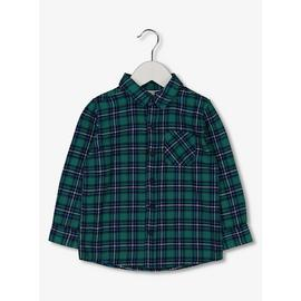 Green & Blue Check Long Sleeve Shirt