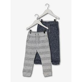 Navy & Grey Marl Fleece Joggers 2 Pack