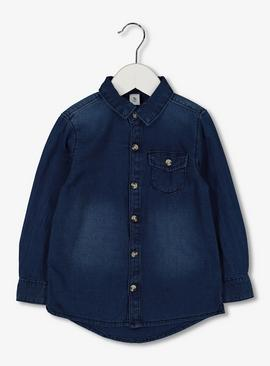 Dark Denim Button-Through Shirt