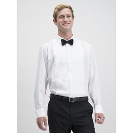 White Easy Iron Tailored Fit Long Sleeve Shirt & Bow Tie