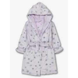 Lilac Glitter Star Dressing Gown