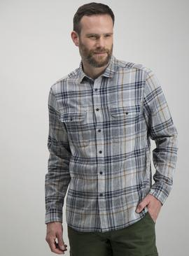 Grey & Ochre Grindle Check Regular Fit Shirt
