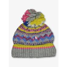 Multicoloured Fair Isle Beanie Hat