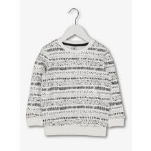 Monochrome Arty Print Crew Neck Sweatshirt