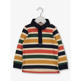 Multicoloured Stripe Long Sleeve Polo