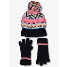 Navy Fair Isle Hat & Gloves