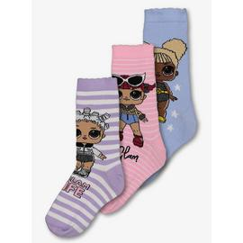 LOL Surprise! Pink & Lilac Ankle Socks 3 Pack