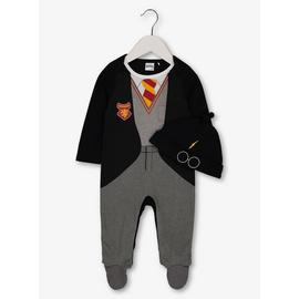 Harry Potter Black Sleepsuit With Hat