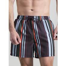 Multicoloured Vertical Stripe Swim Shorts