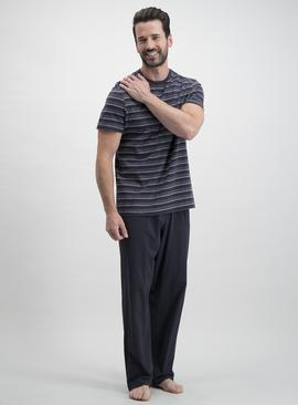 Online Exclusive Charcoal Grey Stripe Pyjamas