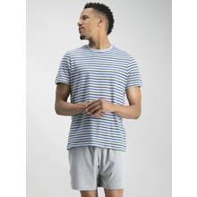 Grey Stripe Shortie Pyjama Set