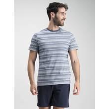 Online Exclusive Navy Fine Stripe Shortie Pyjama