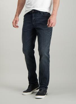 Charcoal Grey Denim Slim Fit Jeans With Stretch