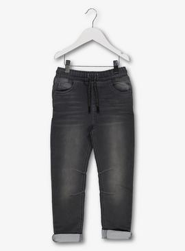 Black Soft Touch Tapered Jeans