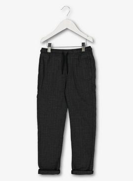 Grey Relaxed Fit Smart Trousers
