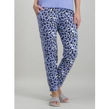 Blue Leopard Print Pyjama Bottoms
