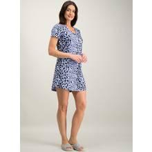 Blue Leopard Print Nightshirt